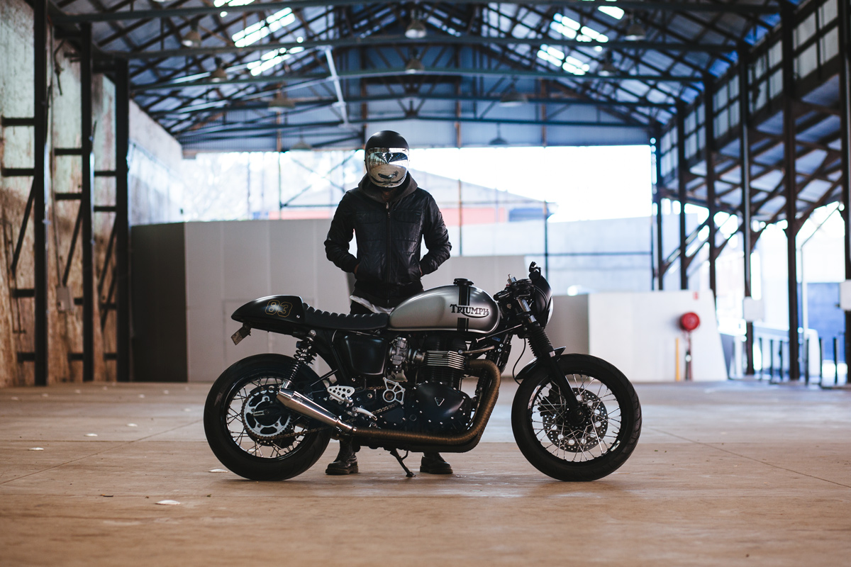 Andre's Triumph Thruxton Cafe Racer | Throttle Roll