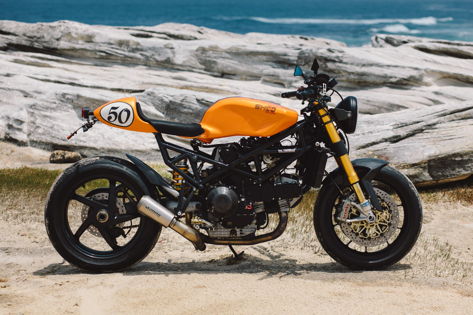 Clockwork Orange Paul S Ducati St2 Cafe Racer Throttle