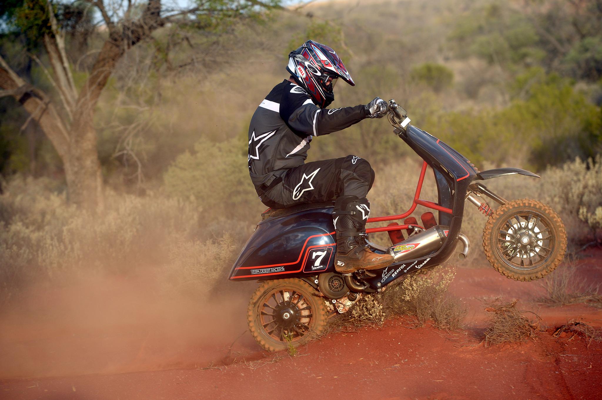 The Vespa Desert Racer Throttle Roll