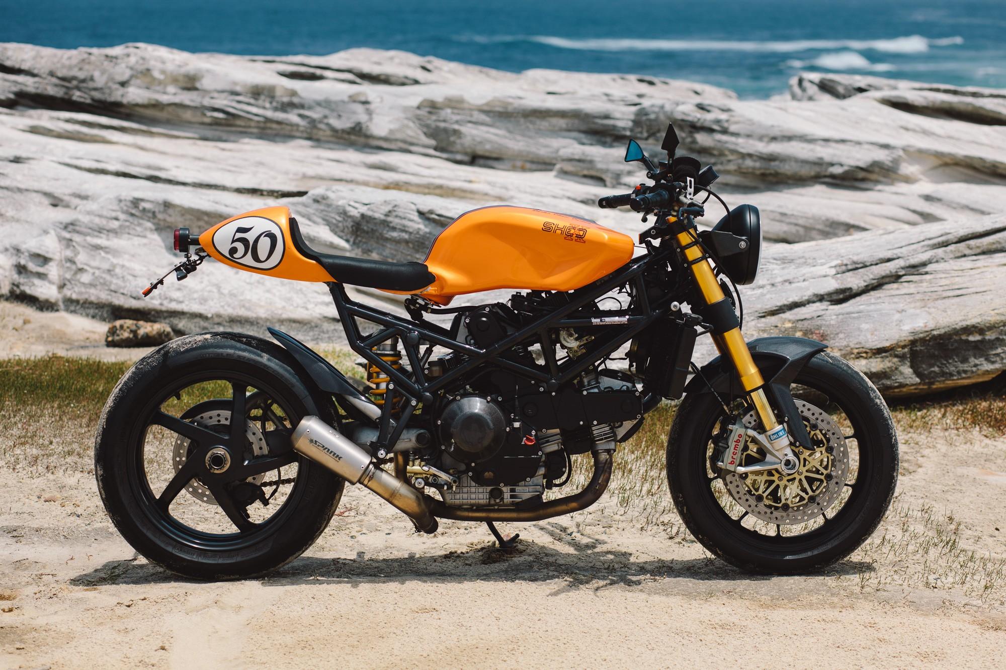 Clockwork Orange Paul S Ducati St2 Cafe Racer Throttle